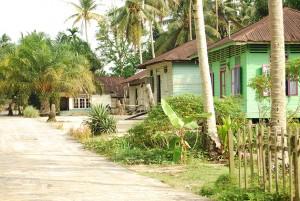Kepenghuluan Pujud- Perkampungan tampak asri dengan rumah rumah tua menghiasi sudut kampung.